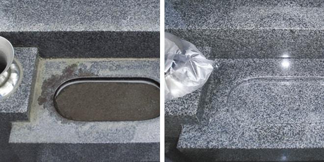 墓石の汚れの原因/水垢・黒ずみ